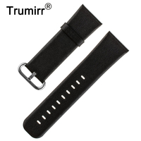 Genuine Leather Watchband 24mm For Sony Smartwatch 2 SW2 Replacement Band Bracelet Strap With Tool Spring