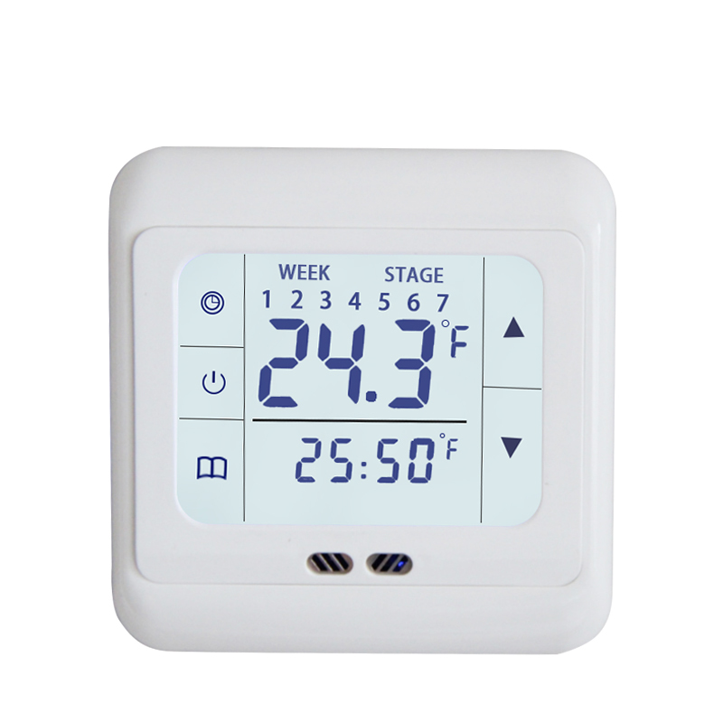 Digital Floor Heating Thermostat Weekly Programmable 16A Floor Heating Thermostat Room Temperature Controller Thermometer