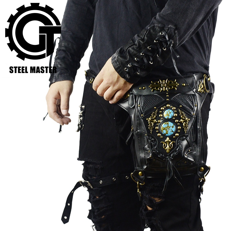 Steampunk Waist Leg Bags Women Men Unisex Victorian Style Holster Bag Retro Fanny Packs Gothic Hip Bags Fashion Heuptas chrismas gift steampunk bag steam punk retro rock gothic bag goth shoulder waist bags packs victorian style women men leg