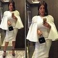 Из бисера элегантный короткие вечерние платья уникальные проекты осень женщины платье полные рукавом Vestidos знаменитости 2015