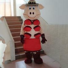 купить Puppets Striptease  Pig Swinish Mascot Costume Halloween Party Adult Size  Party Outfits Fancy Dress Free Shipping по цене 8306.89 рублей