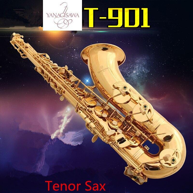 Professionnel Super Made in Japan Saxophone Ténor YANAGISAWA T-901 WO1 Bb Or en laiton Ténor Sax instrument de musique avec le Cas falt