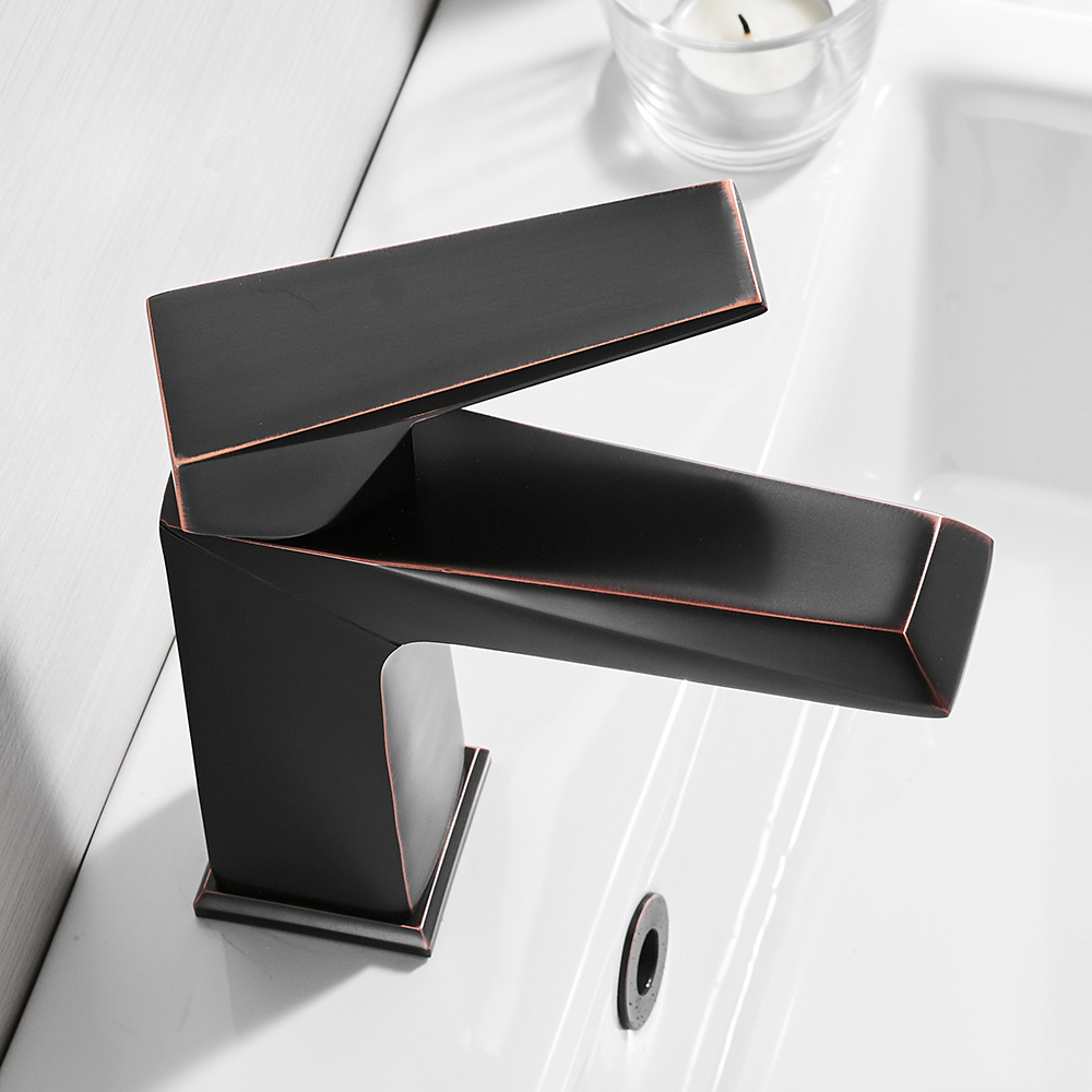 Basin Faucet Retro Black Faucet Taps Bathroom Sink Faucet Single ...