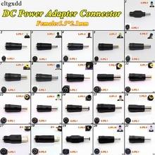 Cltgxdd DC güç erkek tak Jack konektör soket adaptörü kabin LED ışığı 5.5*2.1 kadın 3.5*1.35 4.0*1.7 5.5*2.5mm erkek