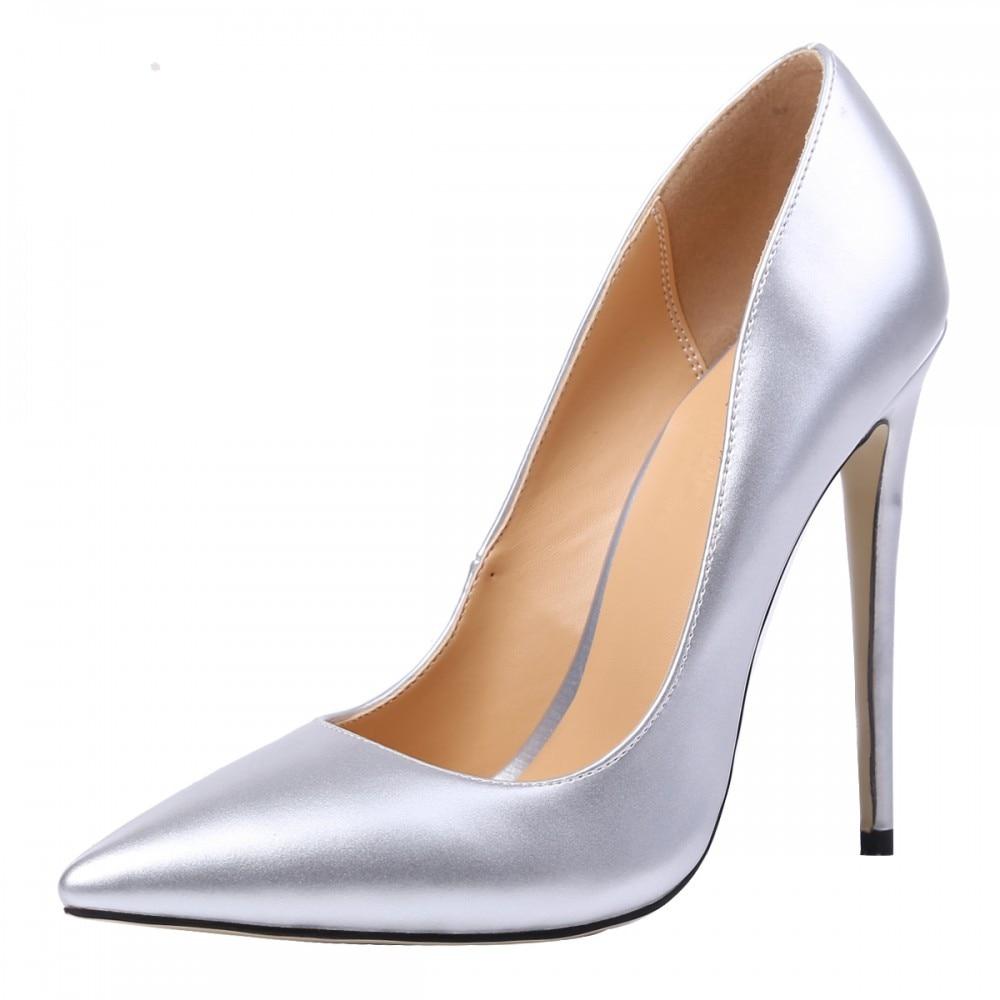 THEMOST Μάρκα 2017 Νέα μόδα παπούτσια γυναίκα Pointed Toe Αντλίες Μεγάλο μέγεθος 34-48 Άνοιξη Καλή ποιότητα Λεπτή δερμάτινη χειροποίητα παπούτσια Γάμου