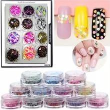 12Box Nail Glitter Multicolor 1mm-2mm Mixed DIY Decoration Mini Round Thin Paillette Design Art +re3yt1Uopo5085912