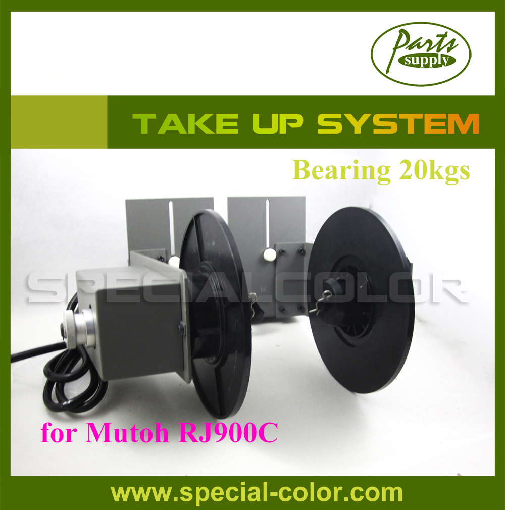 [ For Mutoh RJ900C ] Semi-Automatic Take up System (Take-up device) bearing 20KG (Printer Roll Paper Collector)