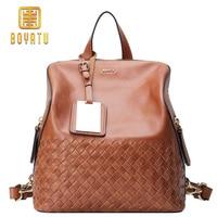 Luxury Backpack Women Bags Designer Real Genuine Leather Backpack Female High Quality Weave Travel Shoulder Bag Brand Rucksack