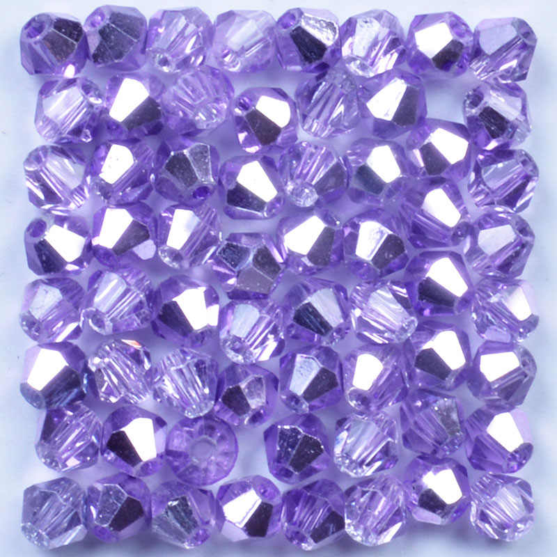 4mm 100pcs Austria Crystal Bicone Beads Purple AB Glass Beads Loose Spacer Bead 5301 For DIY Jewelry Making