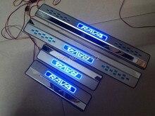 Из нержавеющей стали из светодиодов IIIuminated порога накладка для Toyota RAV 4 RAV4 2013 — 2014