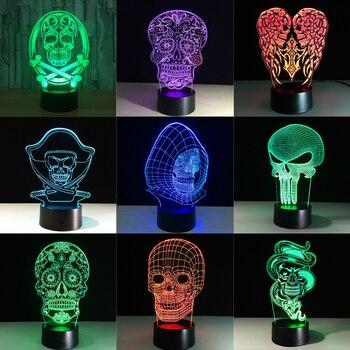 3d светодио дный светодиодный цветной ночной свет меняющий