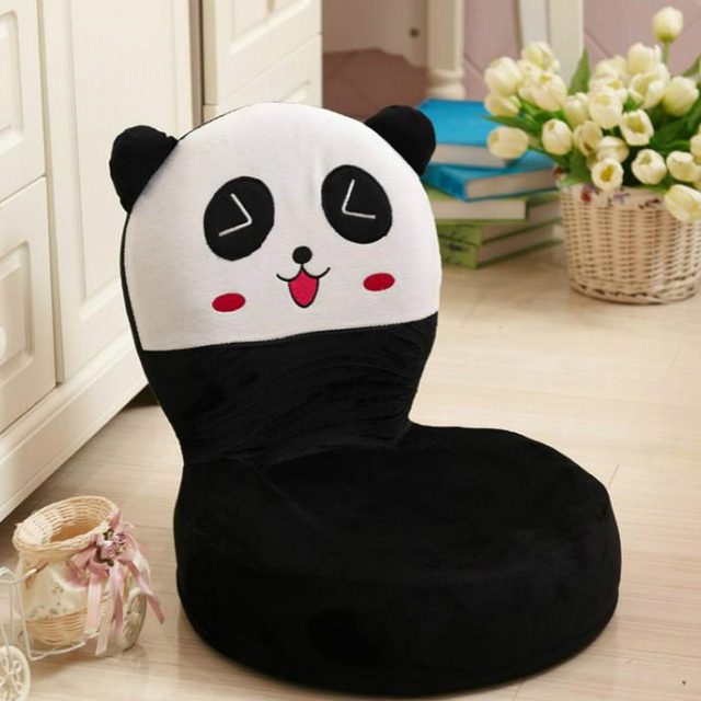 Fancytrader Plush Baby Chair Fruits Animals Models Fluffy Stuffed Panda Bear  Frog Chick Toys Kids Mini