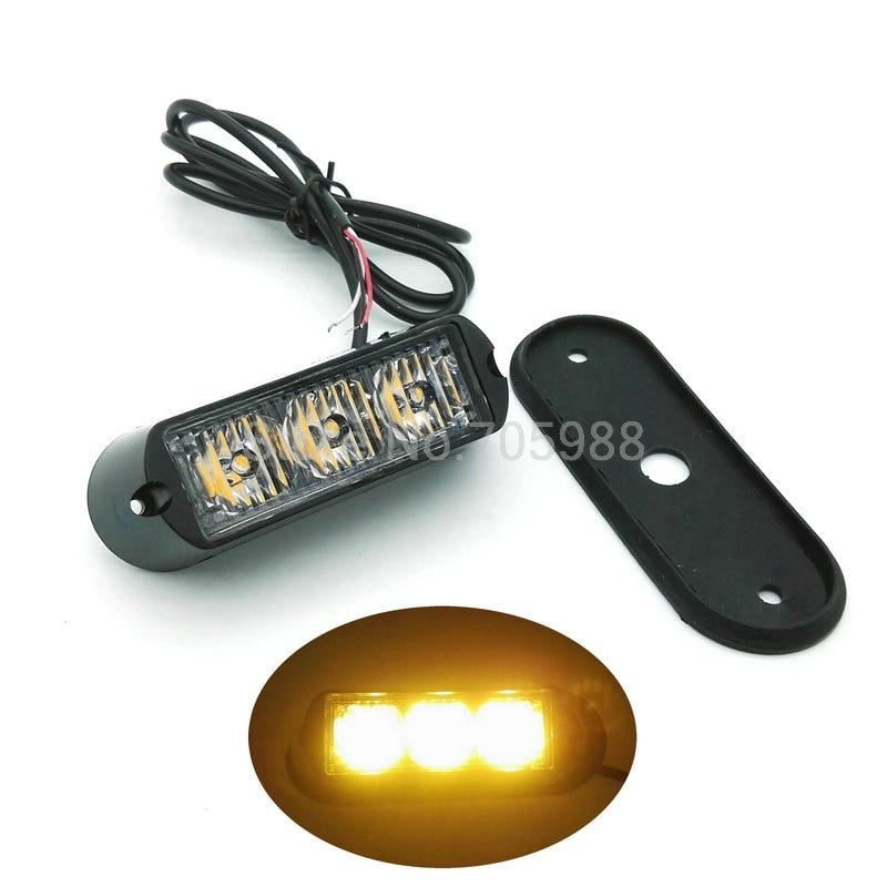 3w 3 led 12V 24V Car Truck Flash fog light,  Emergency Warning Light Bulb High Power auto lamp strobe lights