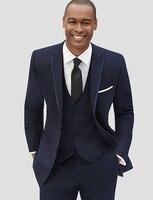 2018 Новый Для мужчин костюмы комплект из 3 предметов серый Для мужчин Свадебный костюм Тонкий Костюмы для жениха смокинги с учетом Для мужчин