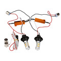 AUTO 2X 1156 P21W BA15S 50W 42SMD DRL Turn Signals Tail Reverse LED Light White/Amber car-styling car light car styling SE 28
