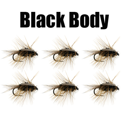 6pcs #6 Woolly Worm Brown Caddis Nymph Fly Deer Hair Beetle Trout Fly Fishing Bait White Green Black Sports & Entertainment Fishing Lures