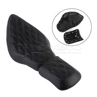 PU Motorcycle Front Driver Solo Seat+Rear Passenger Pad For Harley Sportster XL 883 1200 72 48 D30