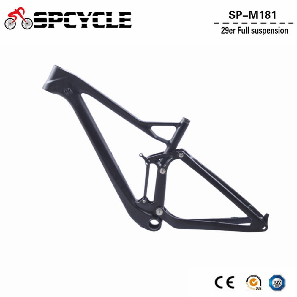 29er Carbon Full Suspension Frame 27.5er Plus Carbon MTB Mountain Bike Frame 27.5+ 148*12mm Boost Thru Axle Frame 165*38mm Trave 29er full suspension mountain bike toray carbon fiber mtb bicicleta bicycle frame ud matt bb92 165 38mm rear shock travel 110mm