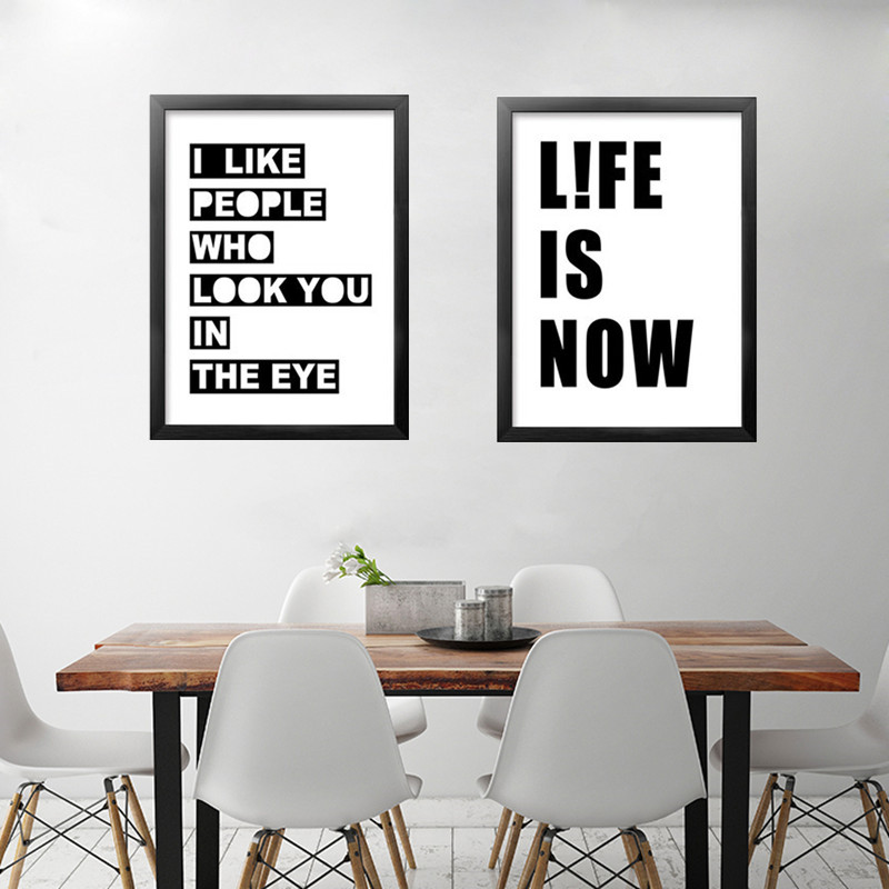 modern black white inspirational quote art canvas poster print wall picture painting for living room home decor no frame dp0313