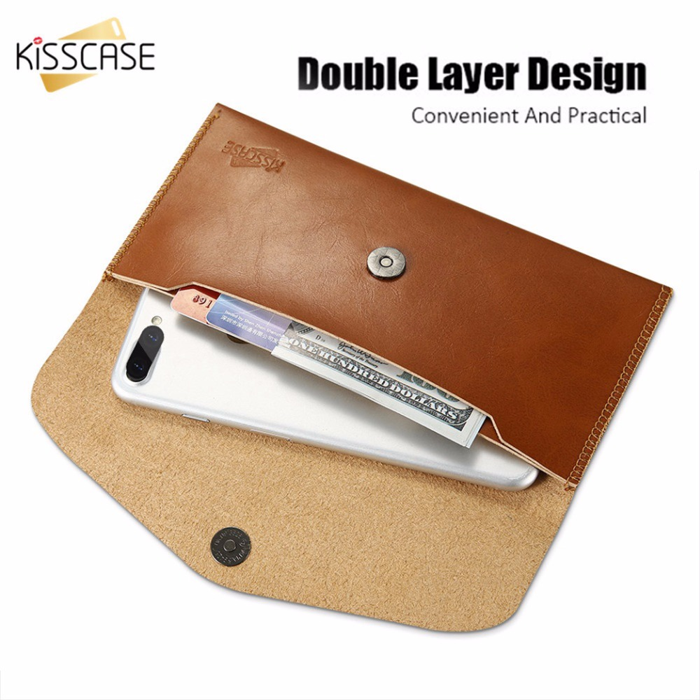KISSCASE Retro Leather Wallet Case For iPhone X 6 6s 7 8 Plus Card Slot Cover For Samsung S8 Plus Luxury 5.5 Universal Coque Bag