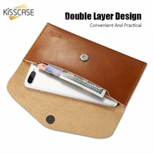 KISSCASE For iPhone 7 Plus Case Card Slot Wallet Cases 6 6s 5.5 Universal Samsung Galaxy Huawei Phone Bag