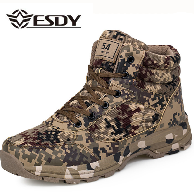 Winter Tactical Men Boots Camouflage Warm Cotton Army Shoes Trainer Footwear Mens Military Boots Size 36-46