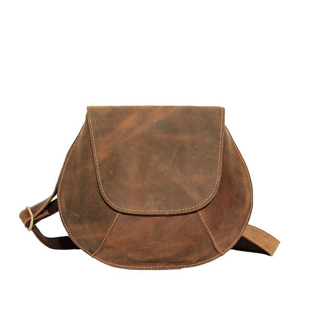 Us 42 98 Men Package New The Whole Leather Single Shoulder Messenger Bag Crazy Horse Pure Handmade Saddle In Crossbody Bags From Luggage On