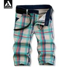 Мужские Короткие Джинсы Дизайнер Одежды 2017 Новый Летний Плед Джинсовые Прямые Короткие Половина Джинсы Габаритные Шорты Капри Для Мужчин