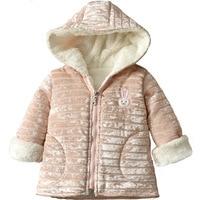 Kaninchen Neue Winter Baby Mädchen Kleidung Faux Pelz Fleece Mantel Pageant Warme Jacke Weihnachten Schneeanzug 1-8Y Baby Kapuzenjacke Oberbekleidung