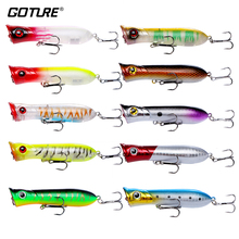 Goture 10pcs Floating Poppers Lures Fishing 8cm 11.6g #6 Treble Hook Crankbaits For Fishing Bass,Pike,Walleye Fake Lures Fishing