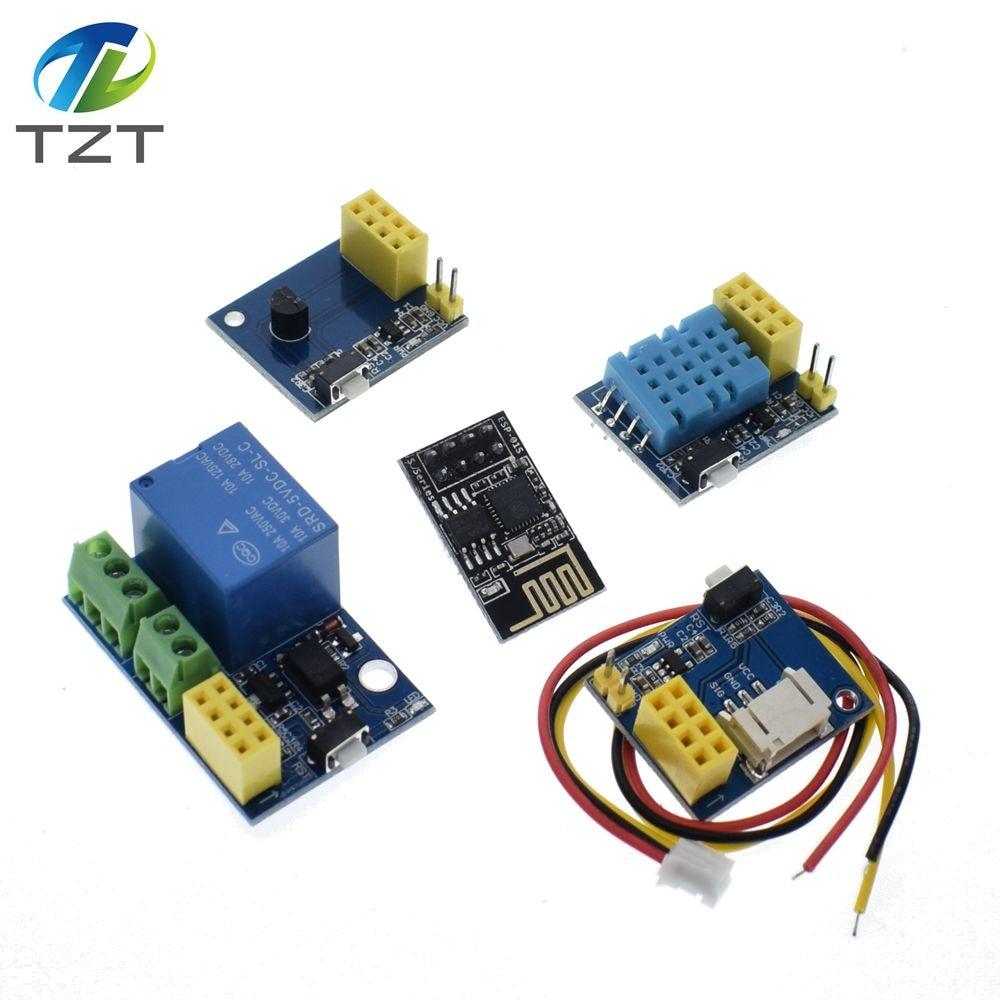 ESP8266 ESP-01 ESP-01S 5V WiFi relay module / WS2812 RGB LED Controller/ DHT11 / DS18B20 Temperature Humidity Sensor for arduino