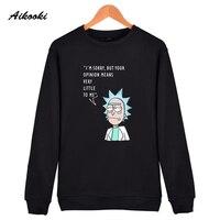 Aikooki Rick And Morty Sweatshirt Hoodies Men Women Cotton Fashion Sweatshirt Men Autumn Winter USA Anime