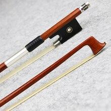 Мастер 4/4 Размер Pernambuco Скрипка бант из натурального конского волоса эбеновая лягушка быстрый отклик Отличная производительность аксессуары для скрипки