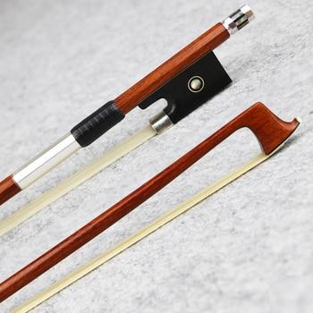 Master 4/4 Size Pernambuco Violin Bow Natural Horsehair Ebony Frog Fast Response Great Performance Violin Parts Accessories reed myrtle the master s violin