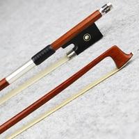 Master 4/4 Size Pernambuco Violin Bow Natural Horsehair Ebony Frog Fast Response Great Performance Violin Parts Accessories