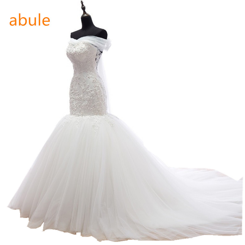 2016 Good quality Princess Designer wedding dress lace up luxurious wedding gowns Custom sll size vestido de noiva gown