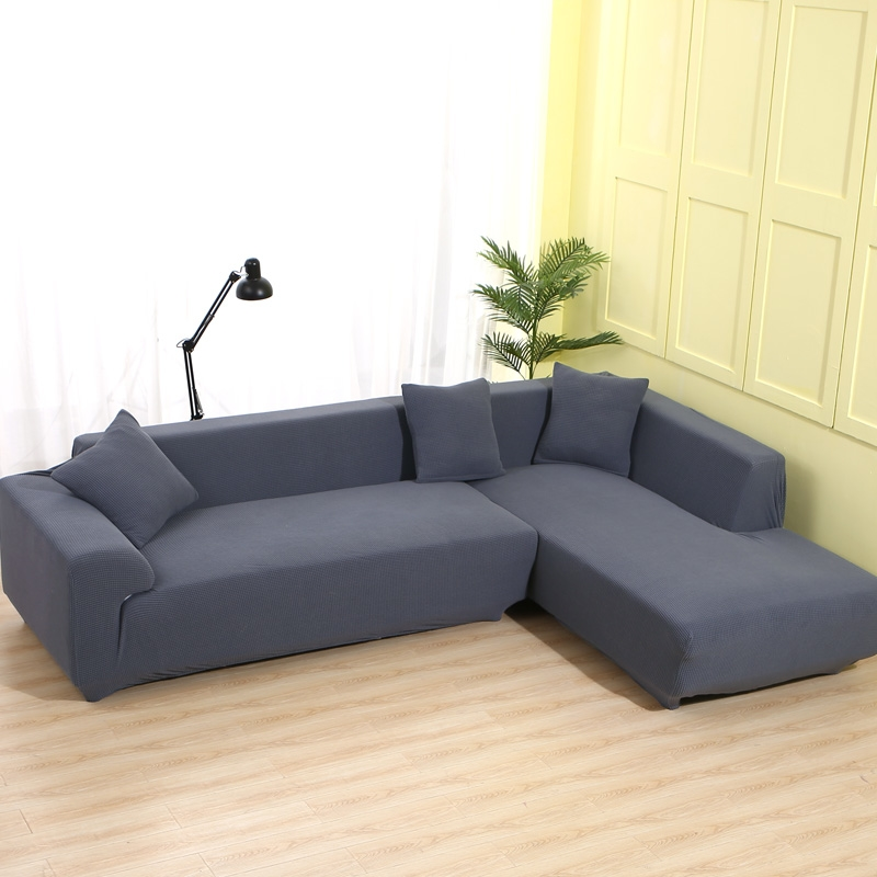 RZCORTINAS Solid Velvet Sofa Covers for Living Room Sectional and L Shaped Sofa 5