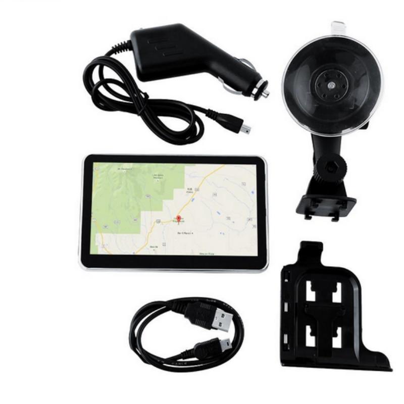 5 Inch GPS Navigation Car Truck Navigator 128M+8GB MTK FM SAT NAV Navitel With Europe Maps#560 стоимость