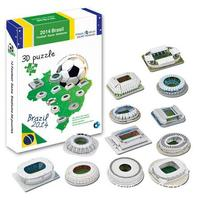 Candice guo puzzle 3D giocattolo DIY edificio carta modello 2014 Brazil Football Gioco Stadio assemblare il lavoro a mano regalo di compleanno 12 pz/set