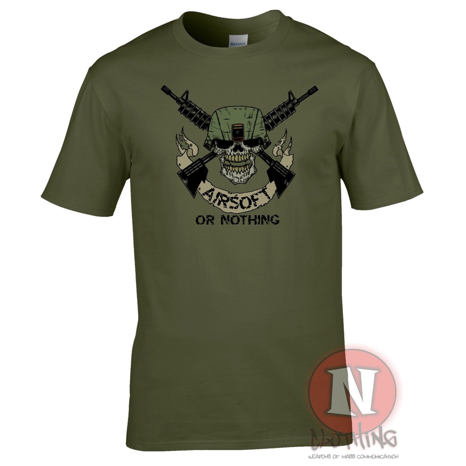Airsoft or nothing T-shirt airsoft team military sport teeshirt Harajuku Tops t shirt Fashion Classic Unique free shipping image