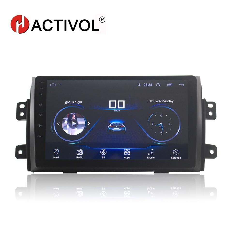HACTIVOL 9 1024*600 Quadcore android 8.1 car radio for Suzuki SX4 2011-2016 Fiat sedici 2006-2010 car DVD player gps navi Wifi silverstrong 8inch 2din android7 1 radio car dvd for suzuki sx4 mp4 mp3 radio navitel gps navi
