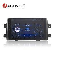 Hactivol 9 1024*600 четырехъядерный android 8,1 автомобильный Радио для Suzuki SX4 2011 2016 Fiat sedici 2006 2010 автомобильный DVD плеер с gps навигатором, Wi Fi