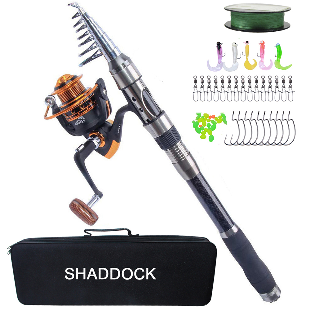 2 1 2 4 2 7 3 3 6m Telescopic Fishing Rod Combo And Reel Full