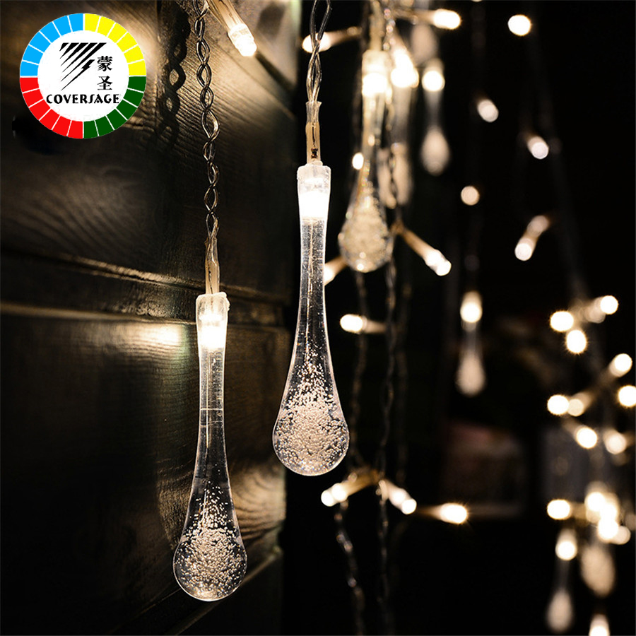 Coversage Lucine Luces Led Navidad Fairy String Lights Wedding Curtain Guirlande Lumineuse Cortina Led String Lights Decorativas 1 5x1 5 rgb led string christmas fairy lights luces decorativas led para fiestas curtain valance home wedding decoration garland