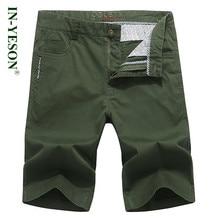 Summer casual shorts men simple design high quality cotton knee length brand men's cargo shorts men clothes 2018 men short homme