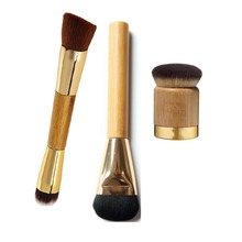 Foundation Brush 1pcs TOP Brand Tart Synthetic Hair Bamboo Handle Super Fine Makeup Big Round Brushes Double Head Makeup Brush