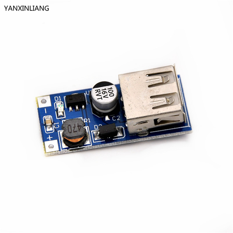 Free shiiping 5pcs DC-DC Boost Module Power Supply Module 0.9V ~ 5V to 5V 600MA USB Mobile Power Boost Circuit Board