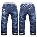 Alta calidad 1 unids de invierno gruesa cachemir cálido pantalones de los niños niños Niños niñas bebé pantalones de los niños