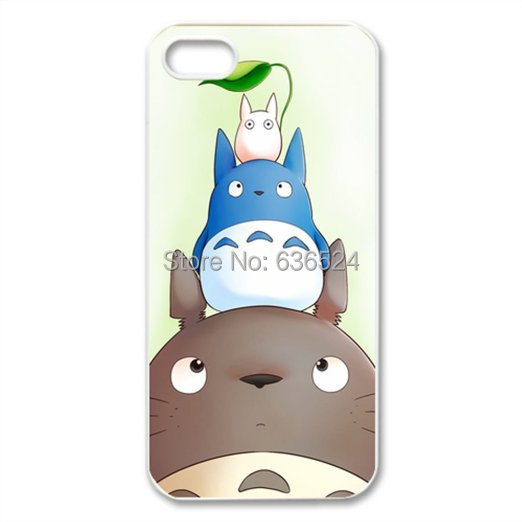 Free shipping Cute Totoro Case for iPhone 4 4s 5 5s 5c 6 6s 6plus 6s plus