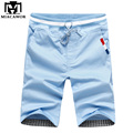 Plus Size 4XL Summer Men Shorts Cotton Beach Shorts Solid Color Casual Shorts Bermuda Masculina 9 Colors MDK087